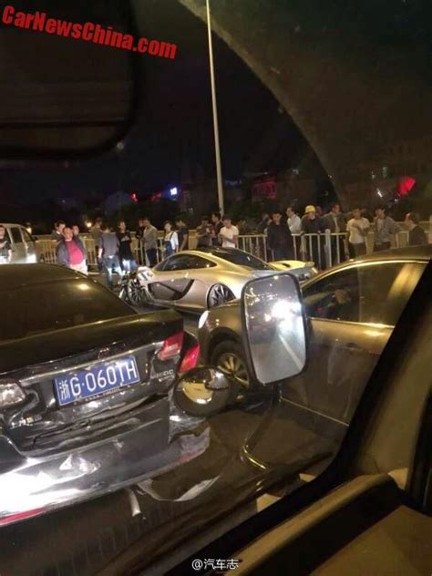mclaren p1 crash test mclaren p1 crashes in china carnewschina com