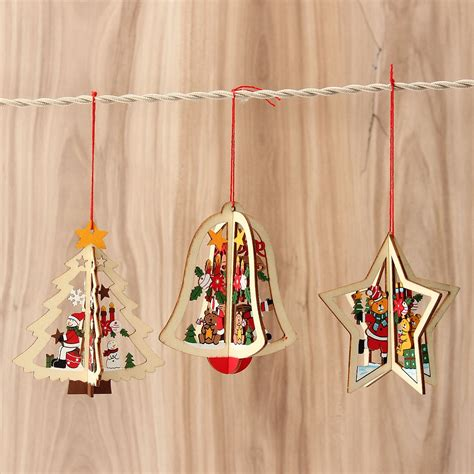 online buy wholesale wooden christmas decorations from