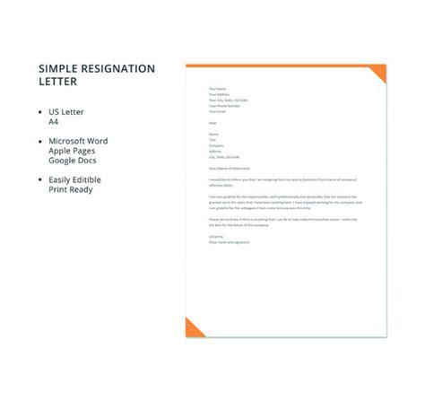 formal resignation letter templates