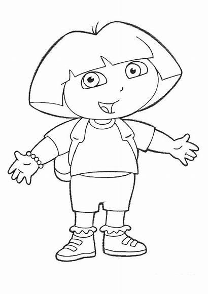 Dora Explorer Cartoons Coloring Drawings Printable Pages
