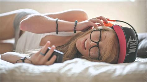 Music, Headphones, In Bed, Glasses, Nike, Brand Wallpapers