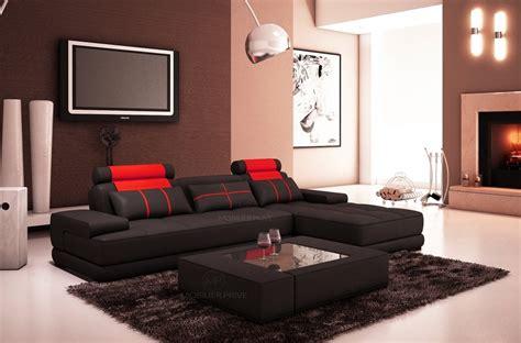 canap 233 d angle en cuir 5 places mobilier priv 233