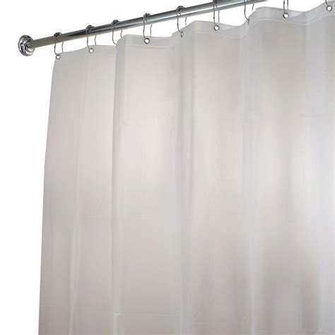 Shower Curtain Liners - interdesign shower curtain liner in clear