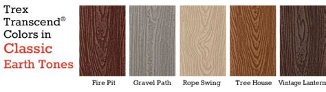 Trex Transcend Decking Colors by Trex Transcend Decking Railing At Capps Home Building