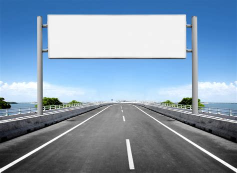 blank billboard  road sign photo premium