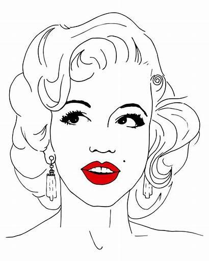 Marilyn Monroe Coloring Gangster Skull Template Domestika