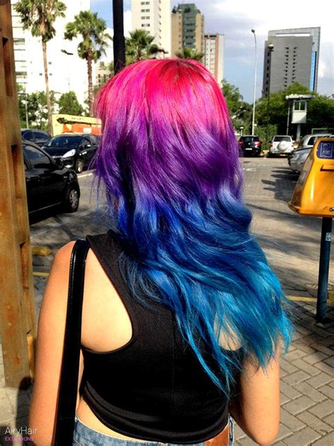 20 Crazy Rainbow Hair Extensions And Hair Color Ideas For 2019