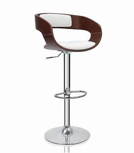 Tabouret De Bar En Cuir : tabouret de bar en bois et blanc ~ Dailycaller-alerts.com Idées de Décoration