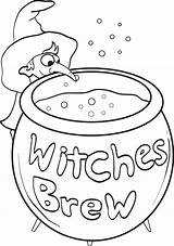 Coloring Pages Witch Witches Printable Brew Halloween Colouring Print Sheets Easter Egg sketch template