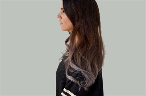 Ombre Hair Dye With Silver Grey Ends