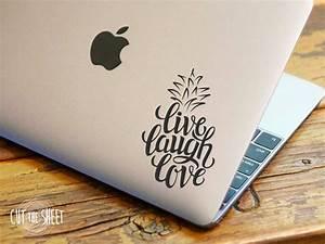 Pineapple Sticker - Live Laugh Love