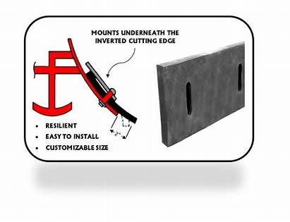 Edge Rubber Cutting Snowex Plow Western Plows