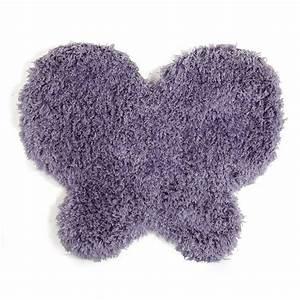 Alinea Tapis Enfant : tapis enfant 80x70cm en forme de papillon mauve lilas ~ Teatrodelosmanantiales.com Idées de Décoration