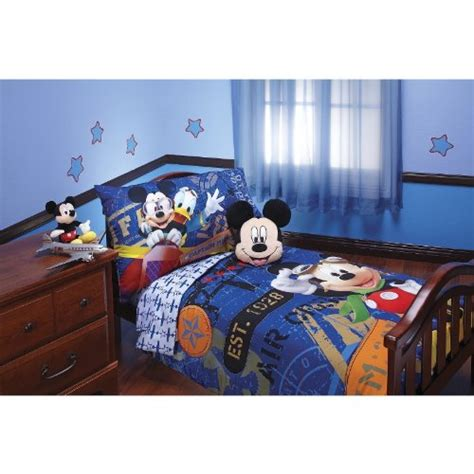 mickey mouse bed review disney mickey mouse 4pc toddler bedding set