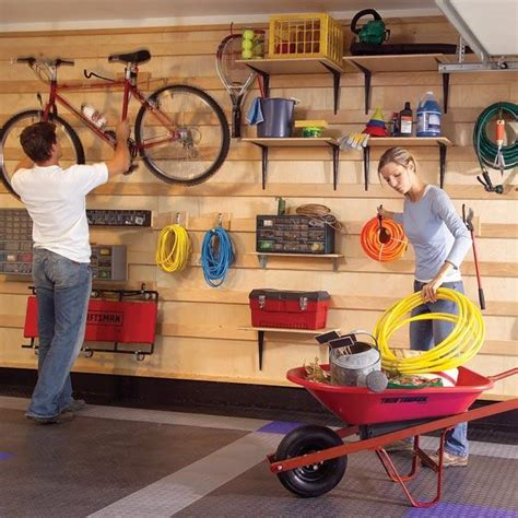 Cabinet & Shelving  Garage Shelving Ideas With Wall Wood