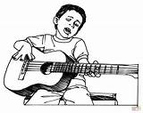 Coloring Guitar Pages Printable Popular sketch template