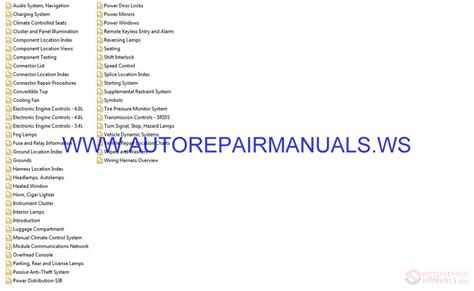 free auto repair manuals 2011 ford mustang parking system mustang 2005 2010 wiring diagrams manual auto repair manual forum heavy equipment forums