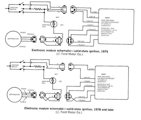wiring up electronic distributor ford ford cars tech