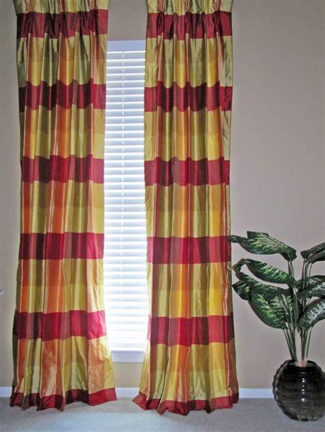 Plaid Curtains And Drapes - plaid curtains