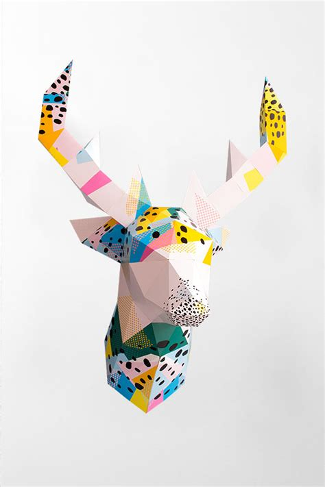 Paper Shape Hirsch by 3d Papier Hirsch Papershape