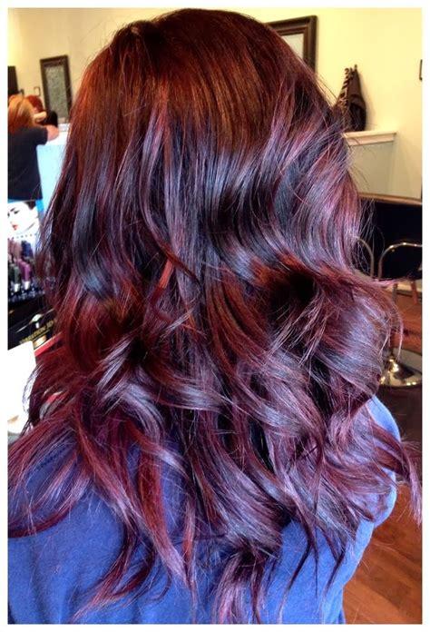 Violet Brown Hair On Pinterest Plum Brown Hair Red