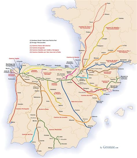 camino santiago map the camino norte an introduction to the northern way