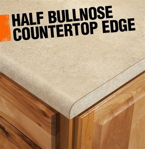 a half bullnose or demi bullnose countertop edge has a