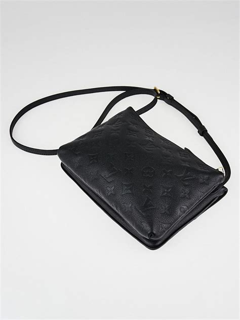 louis vuitton black monogram empreinte leather  bag yoogis closet