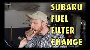 Subaru Fuel Filter Change  In Tank