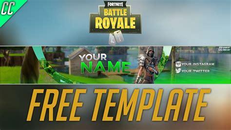 banner template fortnite battle royale youtube