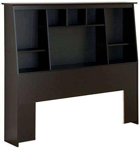 Black Bookcase Headboard by Prepac Slant Back Bookcase Headboard