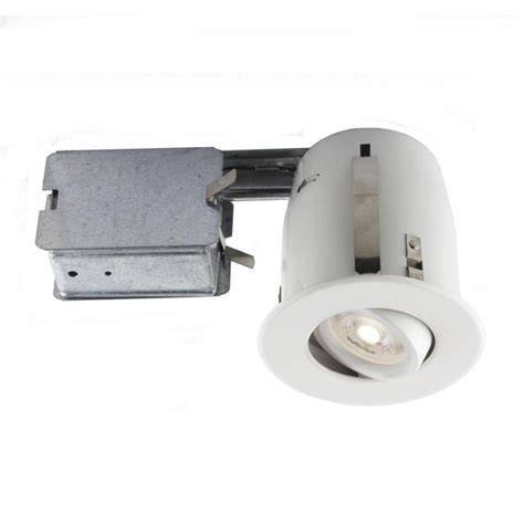 led recessed lighting kit bazz recessed led 4 in matte white recessed led lighting