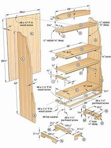 Wood Bookshelves - DIY Woodworking Projects