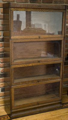 Lundstrom Bookcase by Antique Oak Lundstrom 4 Section Barrister Bookcase Set