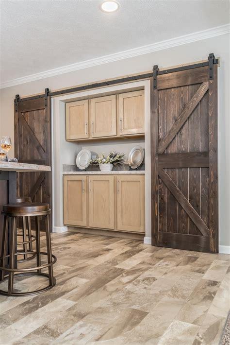 blazer elite ranch modular home rustic pantry doors