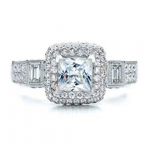 halo princess cut engagement ring custom jewelry engagement rings bellevue seattle joseph jewelry