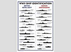 World War II Ship Identification Poster A3