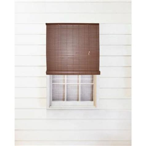 tan woodgrain interiorexterior roll  patio sun shade