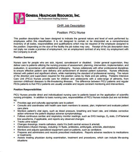 pediatrician job description templates   sample