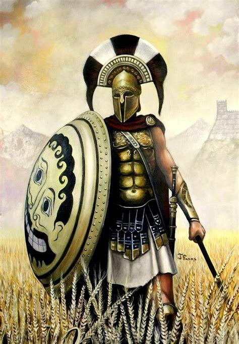 Greek Warrior Painting by Dimitris Papadakis