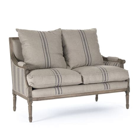 Louis Settee by Zentique Louis Settee Reclaimed Oak B007 2 E255 3