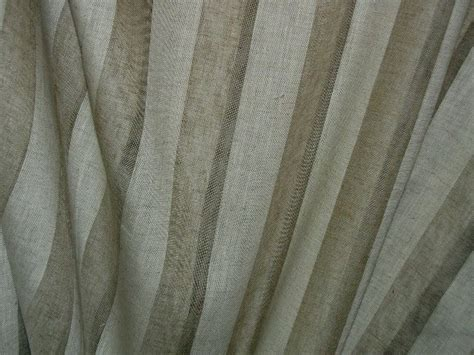 striped semi sheer curtain fabric with linen