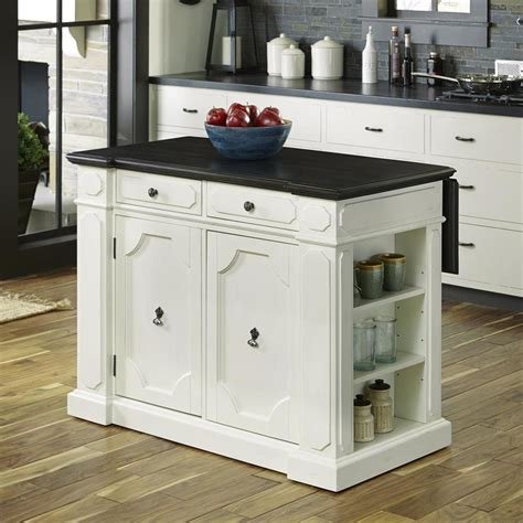 Kitchen Island Home Styles by Home Styles White Casual Kitchen Island At Lowes