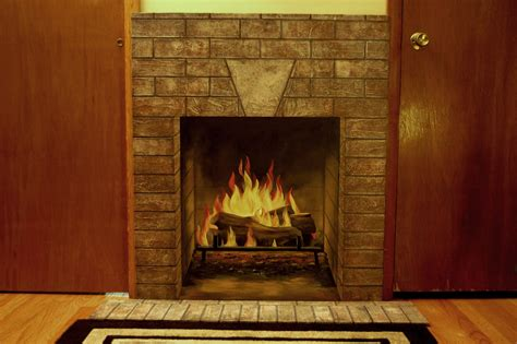 Board Painting Of Fireplace Art Elegance