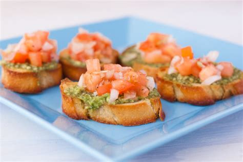 Bruschetta With Pesto, Tomatoes And Thingies Recipe