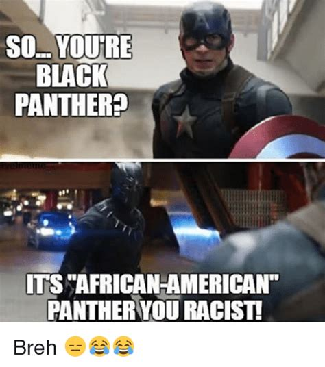 Racist Black Memes - so youre black panther ts african american panther you racist breh black panther meme on