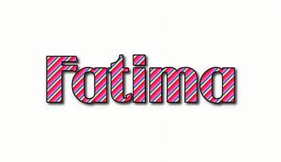 Fatima Logos Stripes Text Flaming