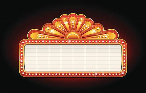 Blank Billboard Clip Art Red theater marquee illustrations royalty  vector 612 x 389 · jpeg