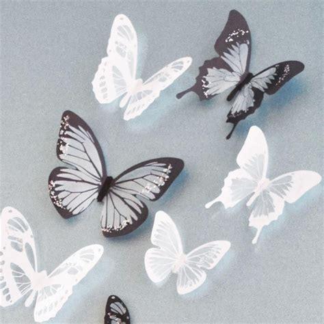 stickers muraux papillons noir stickers 17 papillons noir et blanc 3d stickers muraux