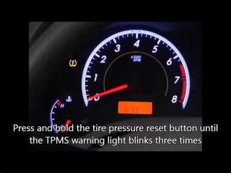 subaru tire pressure light how to reset tire pressure light on 2014 corola autos post